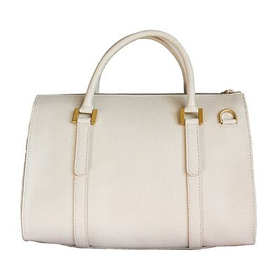 White Leather Bowler Handbag - Down to £49.99 from £79.99