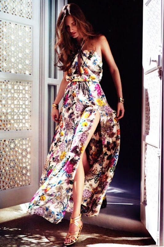Summer Maxi dress #flower - for more fashion visit http://pinterest.com/franpestel/fashion-rien-que-de-la-mode/