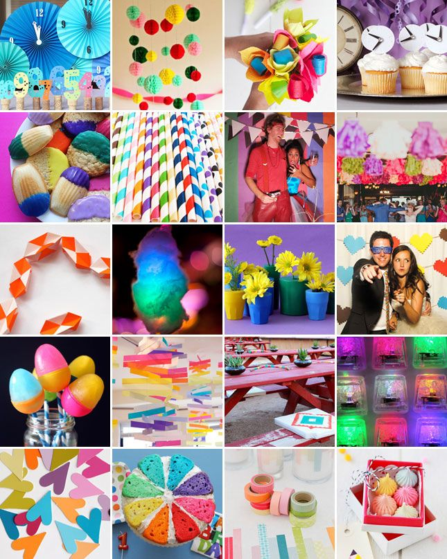 20 ideas for a super colorful party
