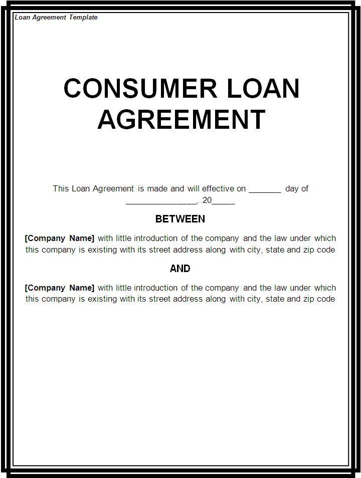 Free Loan Agreement Template Microsoft Loan Agreement Template - loan agreement template microsoft