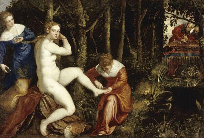 Suzanne au bain, le Tintoret (Musée du Louvre)
