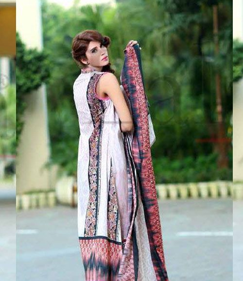 Lala Classic Cotton Embroidered lawn Suits Vol 1. CCE_07B