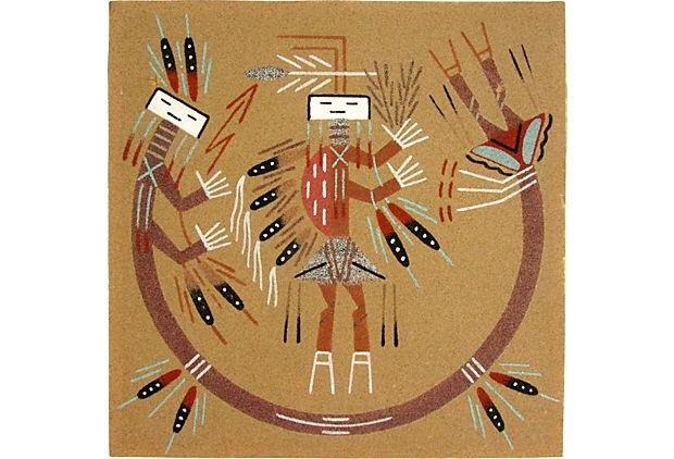 Rainbow Yei Navajo Sand Painting Sand Painting One