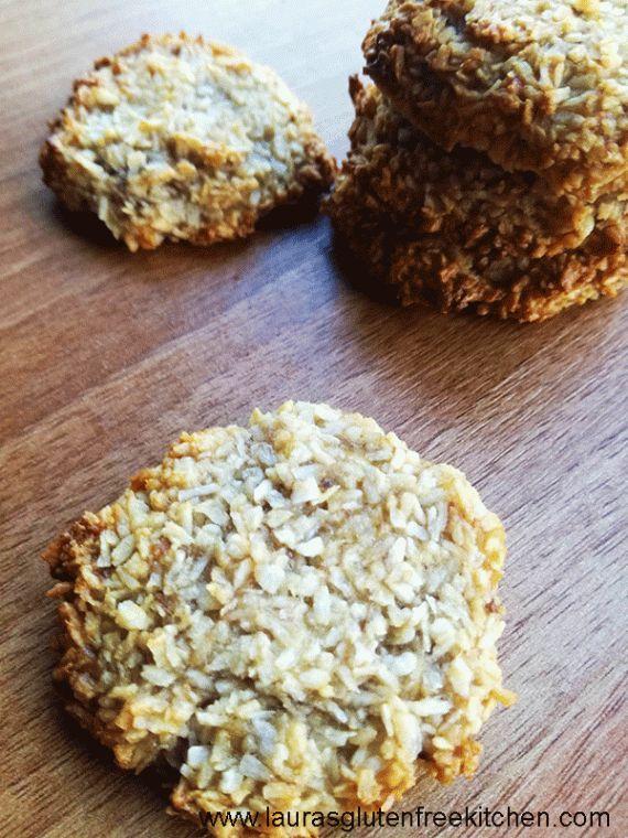 2 ingredient banana & coconut cookies