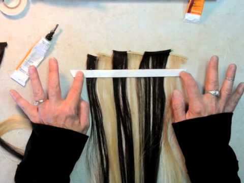 HOW TO MAKE A NO SEW HAIR WEFT EXTENSION - USING SPECIALTY TAPE - From Hairweftingtape.com - YouTube
