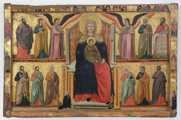 Maestro di Cesi - Madonna con Bambino in trono tra santi - 1308 - Raccolta d'arte della Chiesa di S. Maria Assunta, Terni (Umbria)