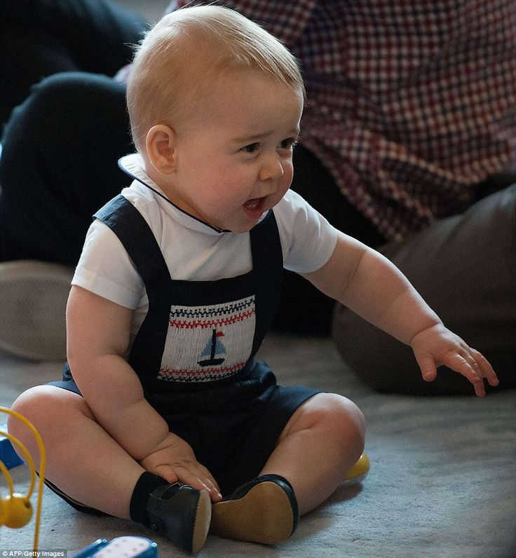 Sitting cross legged on the floor, the young prince was animated as he called out to his mother