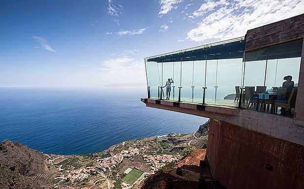 The Mirador de Abrante has a glass floor projecting out from the clifftop above Agulo, La Gomera
