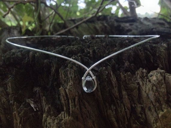 Simple Silver Plated Rock Crystal Circlet by SweetElvenChestnut