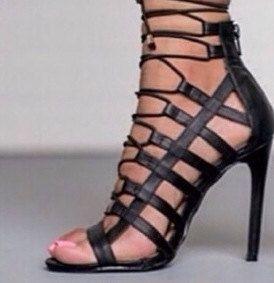 Black Pump Sandal Shoe Sexy Shoe by Posh27boutique on Etsy, $36.99