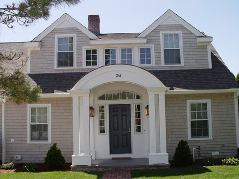 Capes cape cod and porches on pinterest for Cape cod dormer addition