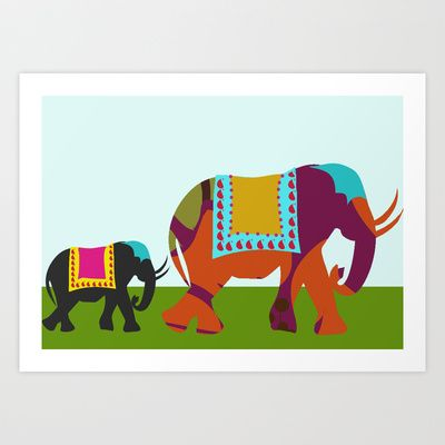 Streets of India Art Print by Simi Design - $13.52