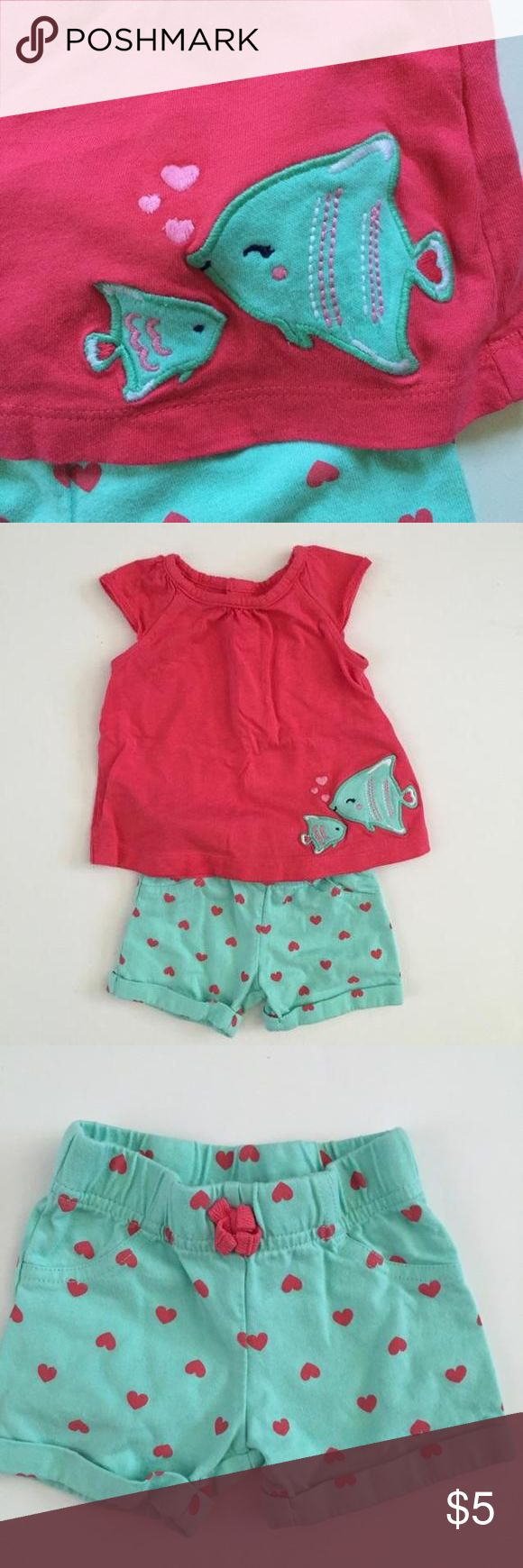 Child of Mine Loved this outfit!  Mint shorts and pink top. Gently used. Child of Mine Matching Sets