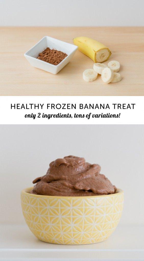 Bananenijs met chocoladesmaak