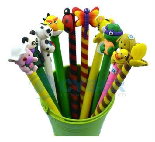 10 PCS Cute Animal Polymer Clay Pen