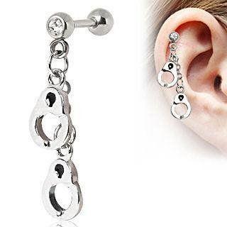 Handcuff Cartilage Dangle #18g #Alloy #Cartilage
