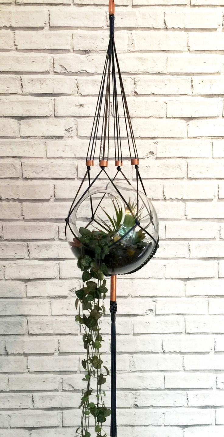 Handmade by Copper Fox, this unique macrame hanger brings a modern touch to a vintage craft. Embellished with pure copper, in a range of on-trend colours #foundonfelt #pinandwin #aklfair #newzealandmade