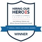 Ryder Presented with Hiring Our Heroes Lee Anderson Veteran and Military Spouse Employment Award