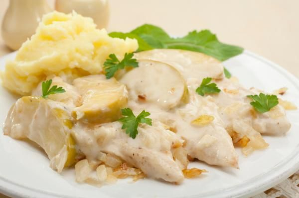 Receta de Pollo en salsa blanca fácil