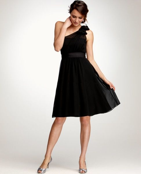 for a black tie wedding, methinks. Ann Taylor Weddings & Events Collection.