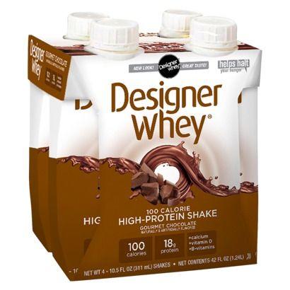 Designer Whey Protein Shake - Chocolate (4 pack of 10.5 oz bottles)