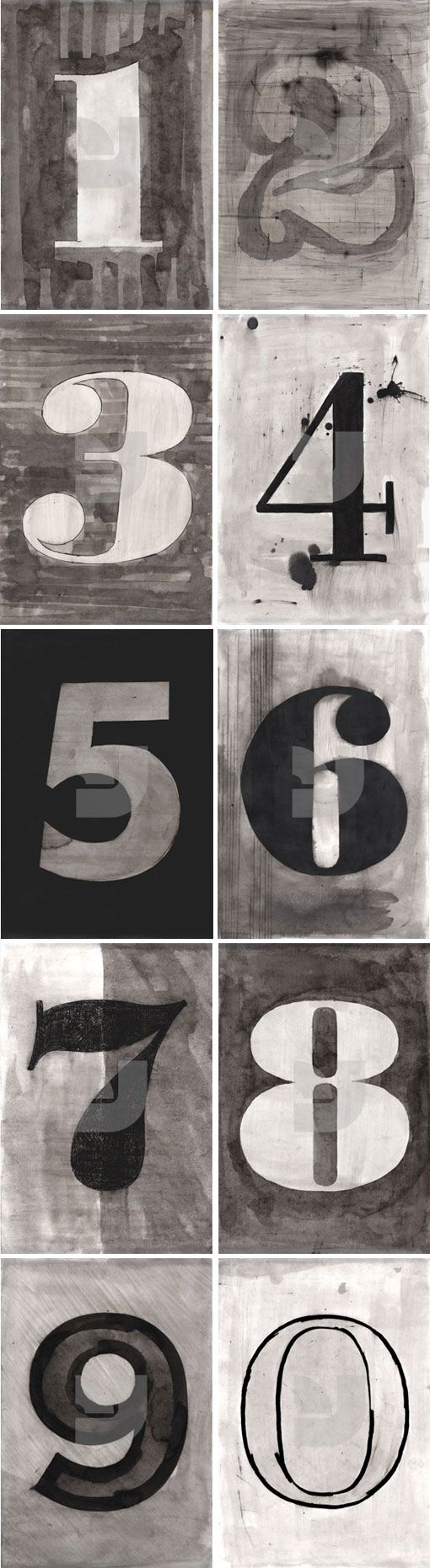 these look like numbers my husband might paint if he were into type