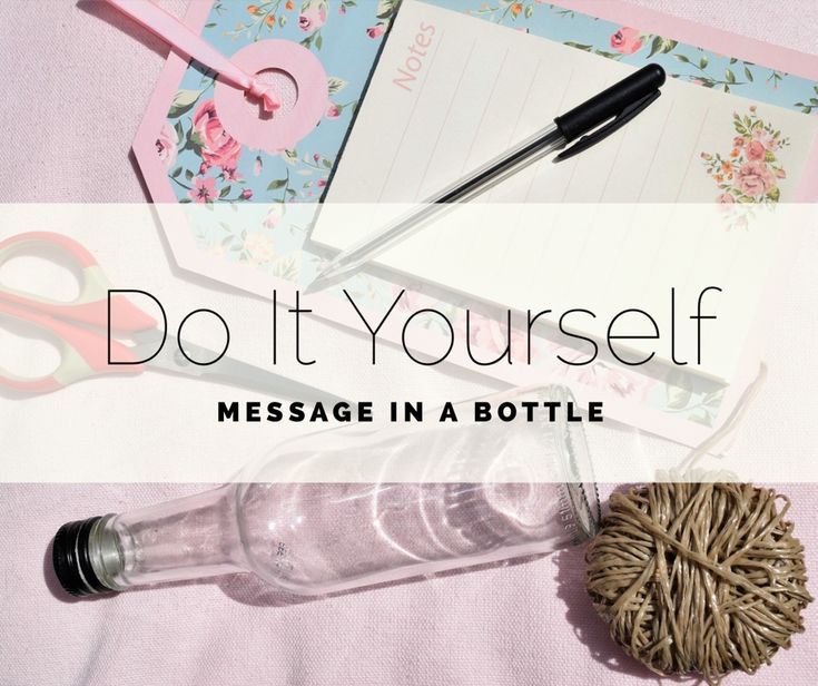 Een brief sturen naar destination unkown. Klinkt dat niet ontzettend spannend? Ga de uitdaging aan met behulp van deze Do It Yourself en maak je eigen message in a bottle!  Link:http://goyalifestyle.nl/diy-message-in-a-bottle/