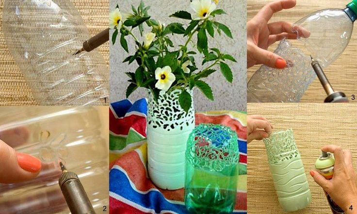 25 best ideas about bottle vase on pinterest wine for Pretty plastic bottles