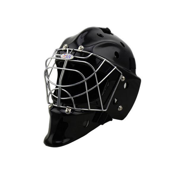 ダークブラックfloorball &フィールドホッケーヘルメット熱い販売ゴールキーパーのヘルメット