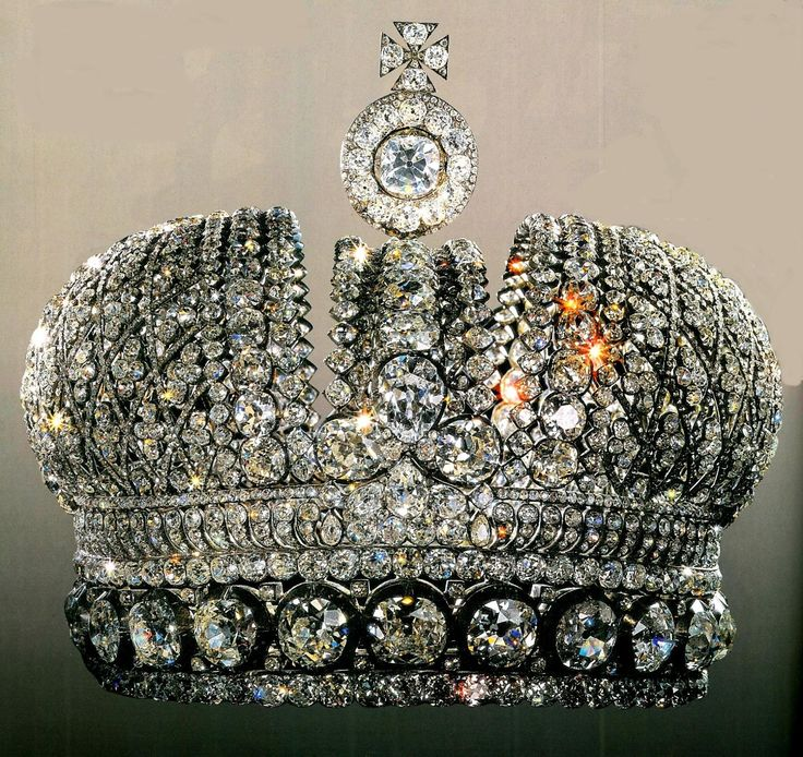 Lesser Imperial Crown, Russia (1797; diamonds). Similar to the Russia's Great Imperial Crown, this crown was smaller and set entirely with diamonds. It was made for the coronation of Empress Maria Feodorovna, Paul I's consort.