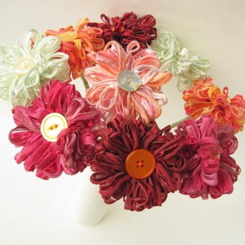 Elige 9 Flores Bouquet Flower Ribbon