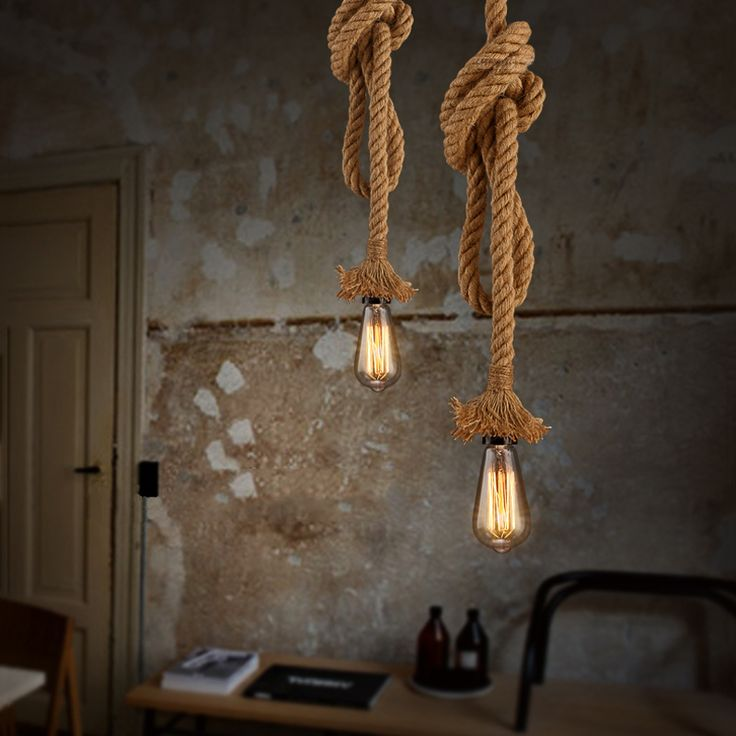 25 beste idee n over touw lamp op pinterest for Aparte lampen