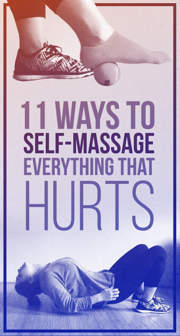 Everyone deals with aches and pains, but not everyone has the time or cash for a professional massage. Here are 11 massages you can do to yourself that will leave you feeling so good   - If you like this pin, repin it and follow our boards :-)  #FastSimpleFitness - www.facebook.com/FastSimpleFitness