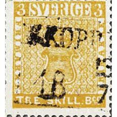 Treskilling yellow rare stamp - This rare collectible and most valuable stamp was found by a boy in his grandparent's attic.