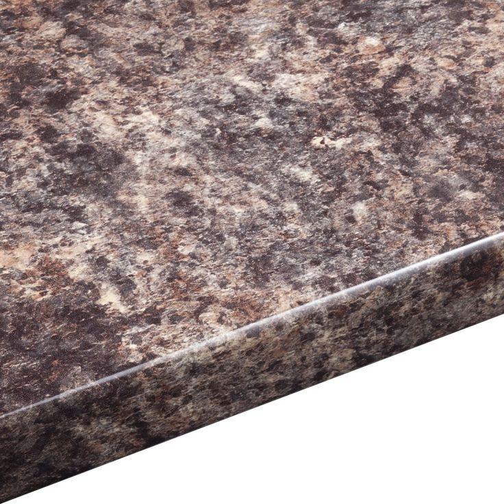38mm B&Q Jamocha Gloss Round Edge Kitchen Worktop (L)3m (D)600mm | Departments | DIY at B&Q
