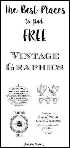 The best places to find free vintage graphics!  http://canarystreetcrafts.com/