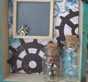 """Useful Wooden Tray"" Embellishments Article - image 4 - by: Dr. Irit Shalom for Scrapbooking.com August 2012 issue"