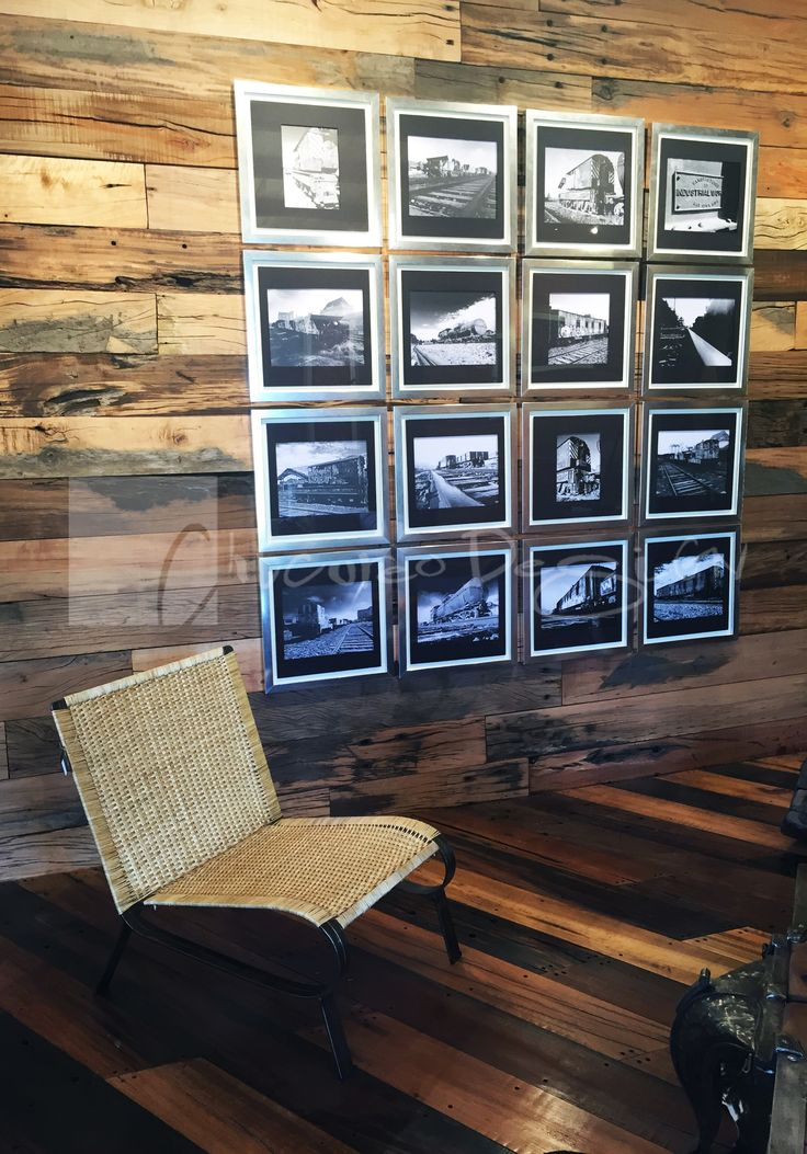 Chicureo Design. Serie de cuadros de fotografias en blanco y negro con motivo de ferrocarriles en Chile con marcos metalizados y fondo negro. www.chicureodesign.cl