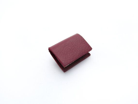 Maroon Red Leather Miniature Handcrafted Book Brooch - Tiny Unisex Book Accessory - Book Lover https://www.etsy.com/nz/shop/ExLibrisJewellery
