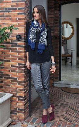 Ladies Fashion clothing  Sharla Top  $69.95    Zebra Scarf  Polyester  Black  $39.95    Anoushka fashion Pants  Silver  Size: 6 - 24  $85.95