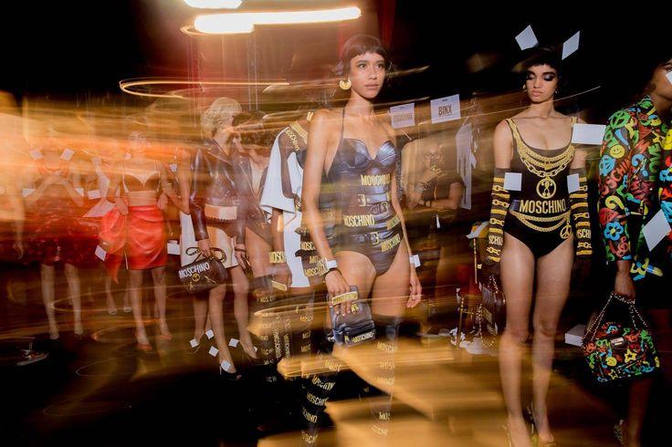 Moschino | Spring Summer 2017 | Milan - Backstage #Moschino #SS17 #MFW #Backstage #Runway #Fashion