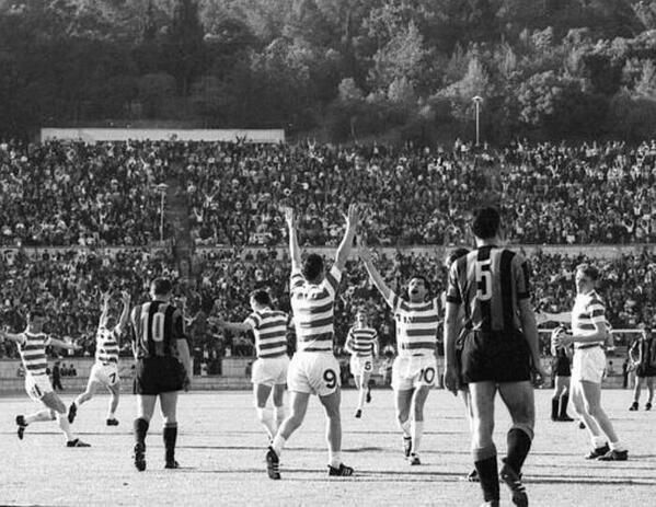 The moment Celtic became first British club to win the European Cup. Lisbon, May 25th, 1967.
