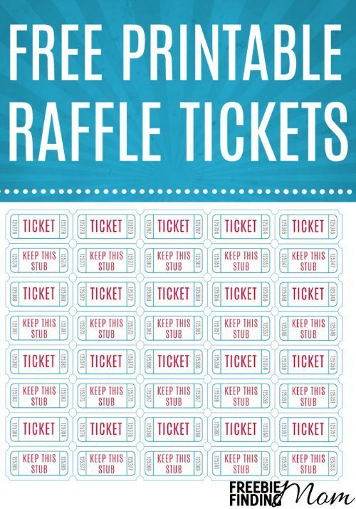 free printable raffle tickets free printables raffle tickets