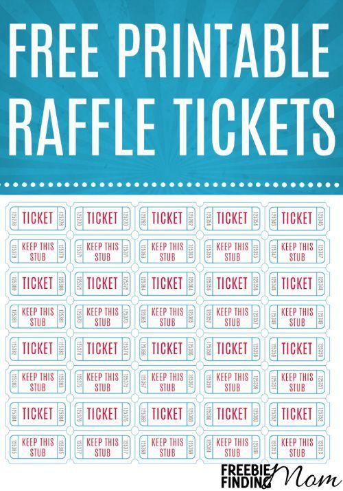 template raffle tickets