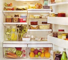 Guide to a healthy refrigerator. When I have the time my fridge will look like this.... really it will....