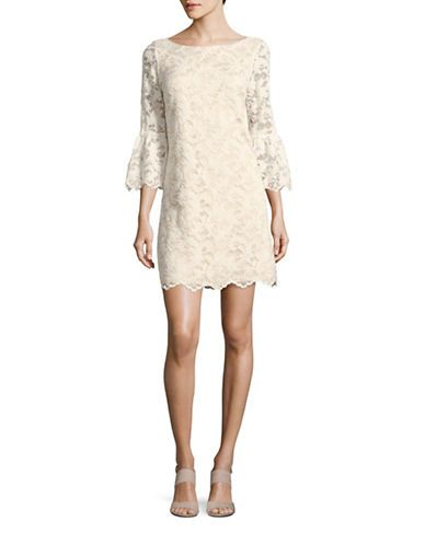 Femme | Robes chics  | Robe tube en dentelle à manches pagode | La Baie D'Hudson