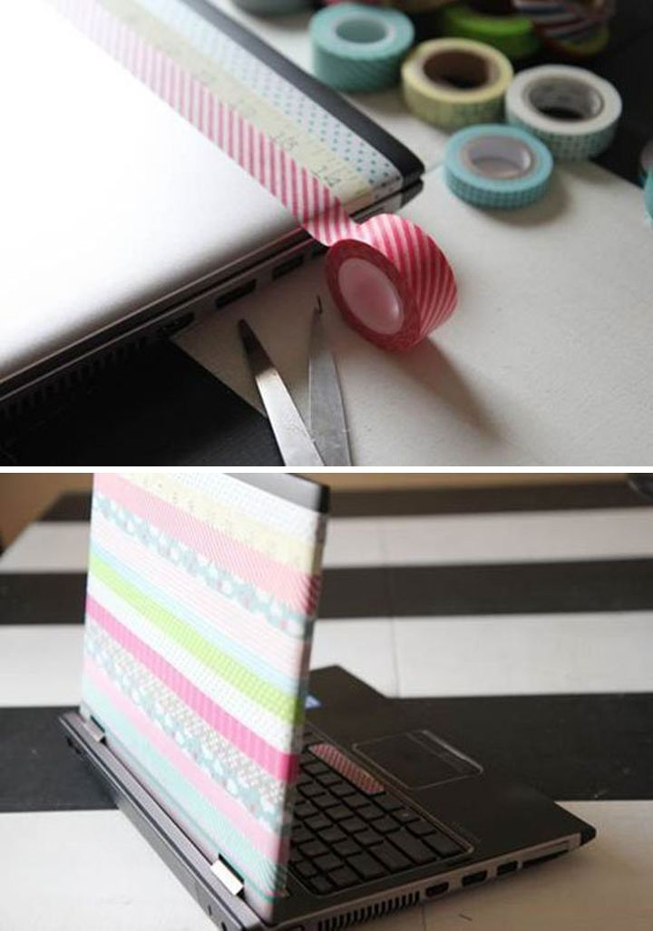 Cute and Easy DIY Washi Tape Project | http://diyready.com/100-creative-ways-to-use-washi-tape/