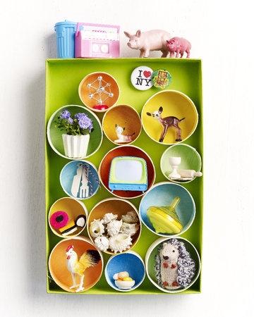 petits casiers récup (en couleurs sobres pas mal non plus...)