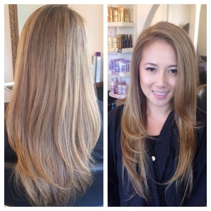 Mix A Boutique Salon - San Diego, CA, United States. Asian blonde ambitions! ;) Full highlights and root brightener by SAMONE!