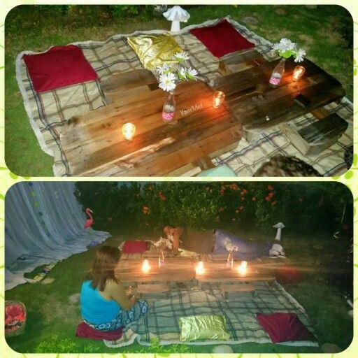 Decoración de cumple!  #diy #party #outdoor #picnic #candle #romantic #night #yard